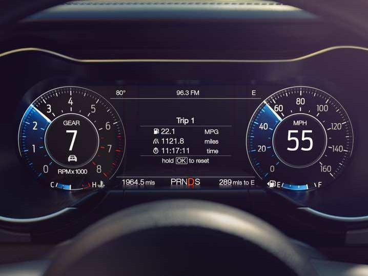 2018 Ford Mustang features Visteon reconfigurable cluster with class