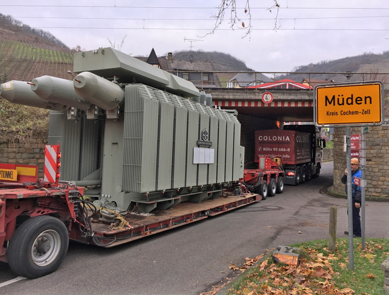 Trafotransport von Westnetz in Müden