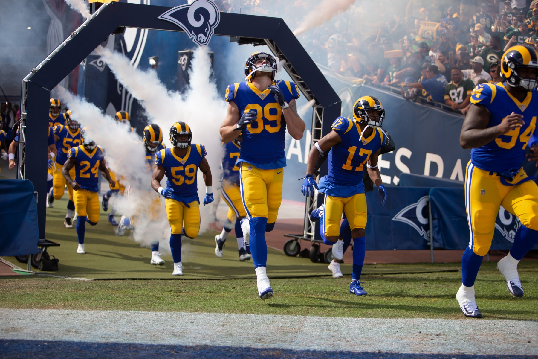 Neal. S. ElAttrache, MD, surgeon and sports medicine specialist at Cedars-Sinai Kerlan-Jobe Institute, is also head physician for the Los Angeles Rams. Photo courtesy of the Los Angeles Rams.
