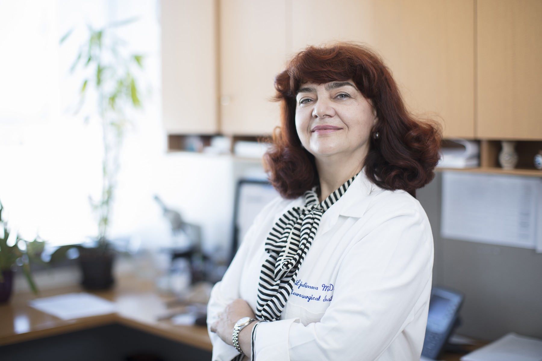 A new study led by Julia Ljubimova, MD, PhD, could help scientists develop immunotherapies for brain tumors. Photo by Cedars-Sinai.
