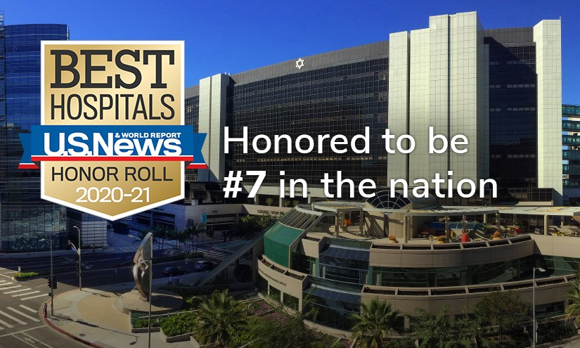 "Cedars-Sinai Medical Center ranked #7 nationally in the U.S. News & World Report's ""Best Hospitals 2020-21"" analysis, exceeding its rank from last year. Photo by Cedars-Sinai."