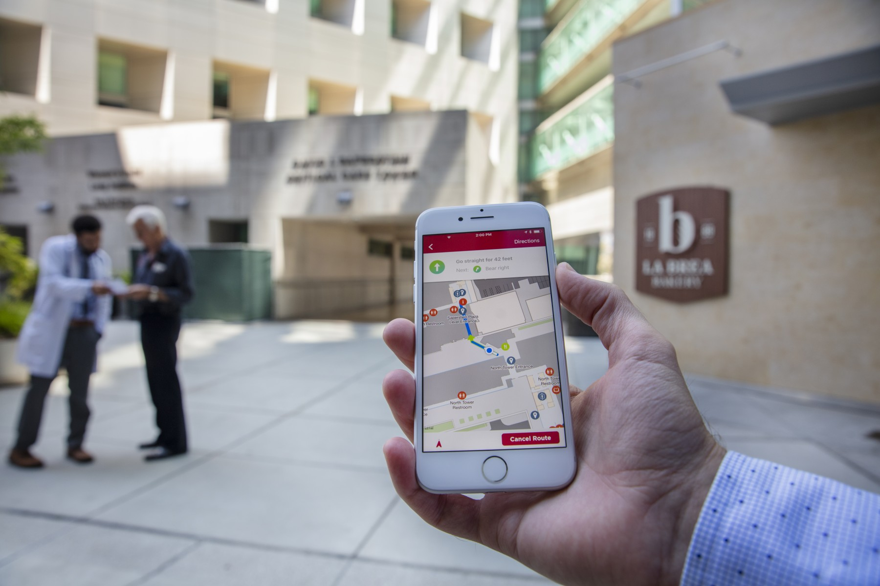 The Cedars-Sinai app is available for download from the App Store or Google Play. Photo by Cedars-Sinai.