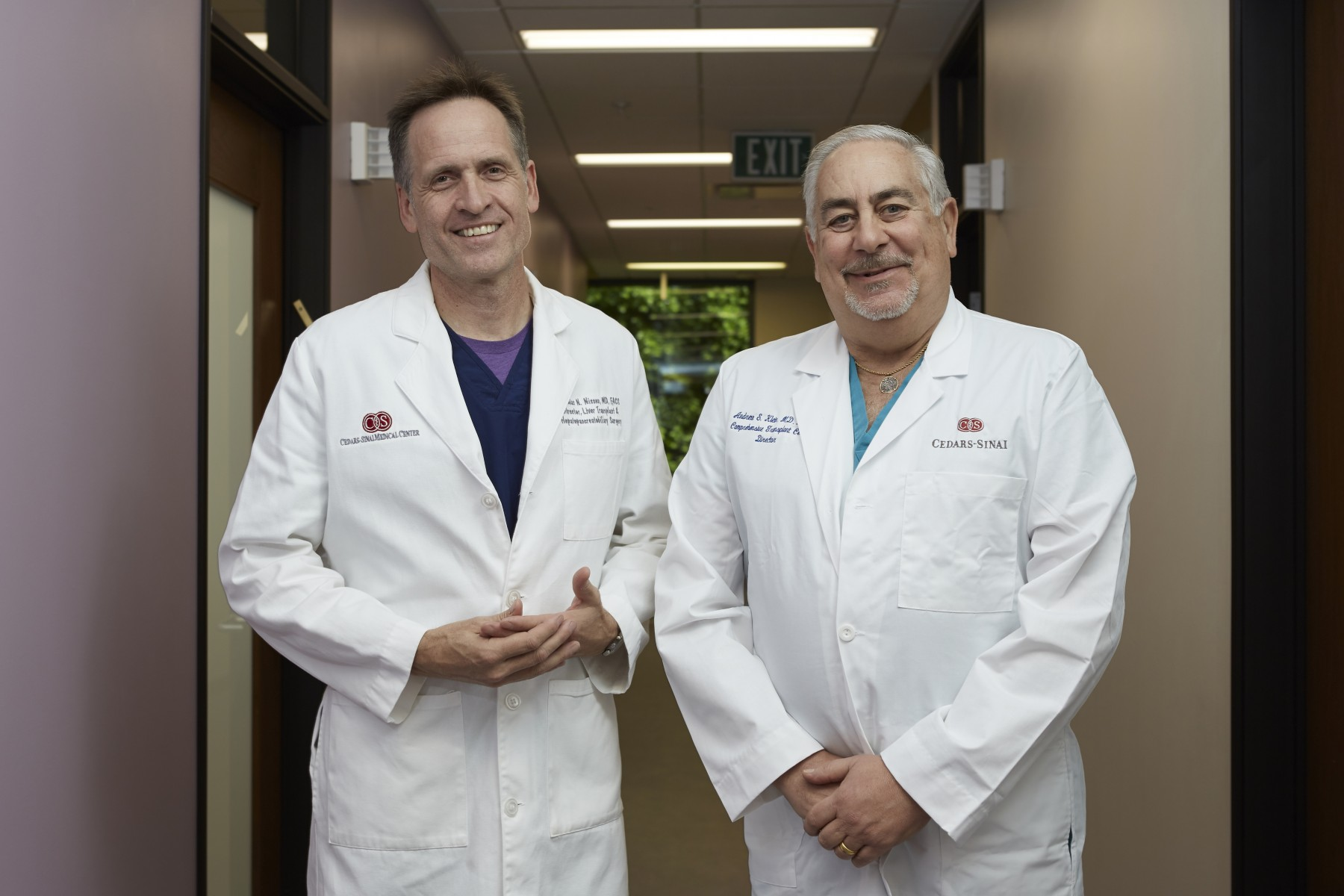 Liver surgeons Nicholas Nissen, MD, and Andrew Klein, MD. Photo by Cedars-Sinai.