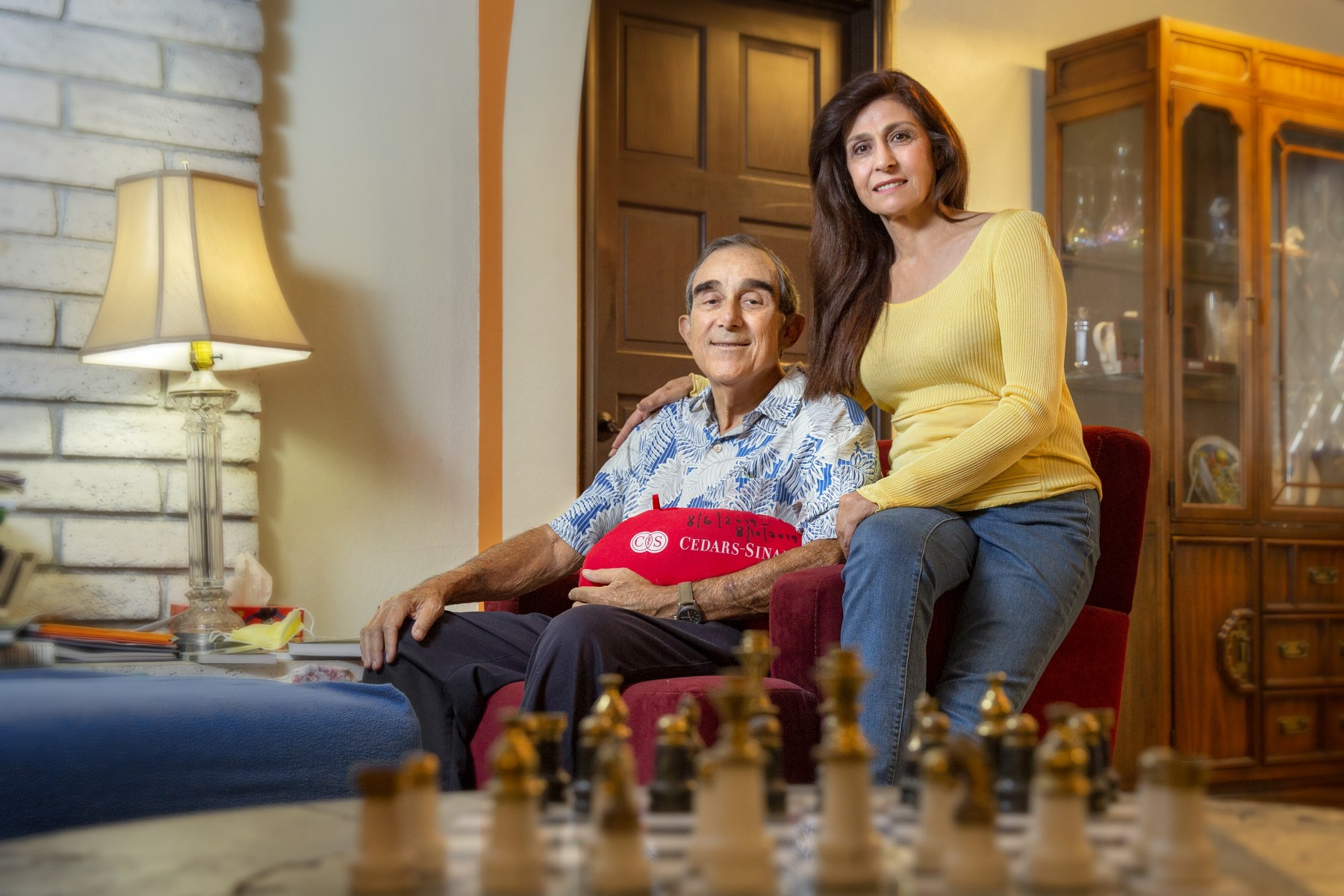 Bill and Sona Paparian relax at home following their successful kidney transplant . Photo by Cedars-Sinai.