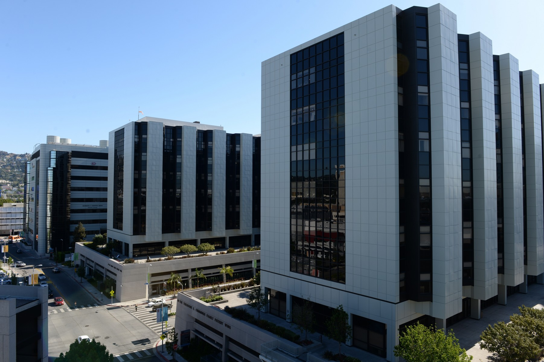 A view of the Cedars-Sinai Medical Center campus. Photo by Cedars-Sinai.