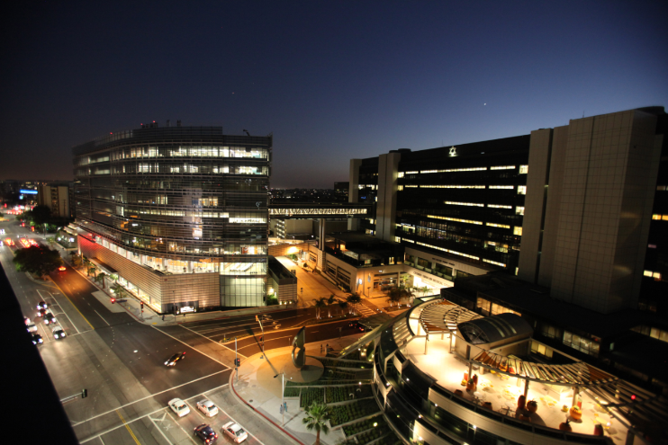 The Cedars-Sinai campus. Photo by Cedars-Sinai.