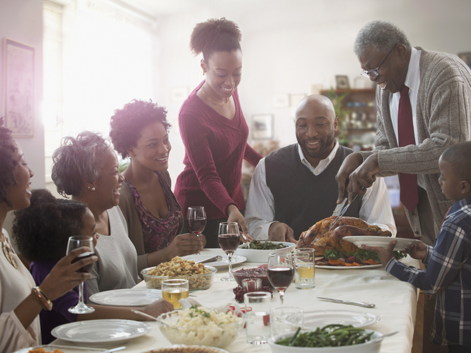 Holiday dinners don't have to be a recipe for a family fight. Photo by Getty.