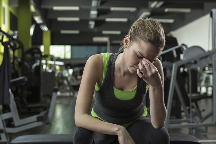 If you are prone to headaches while working out, Ilan Danan, MD, sports neurologist and pain management specialist, suggests working on your breathing technique. Photo by Getty.