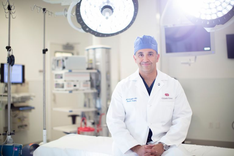 Aortic dissections can be mistaken for a heart attack because the symptoms can be similar, said vascular surgeon Ali Azizzadeh, MD. Photo by Cedars-Sinai.