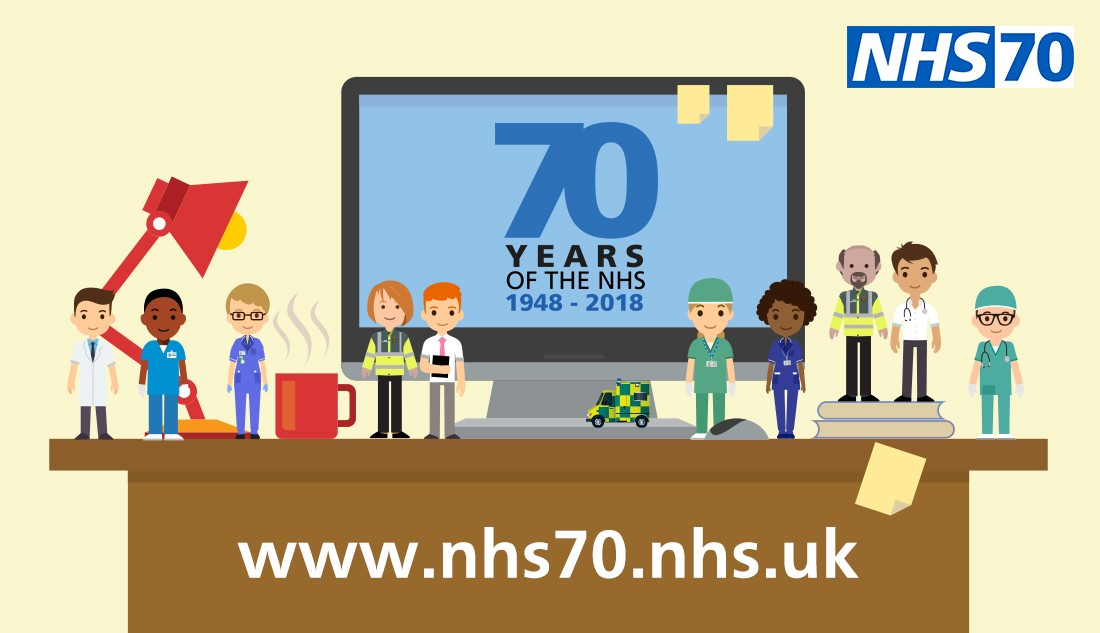 NHS70 website advert