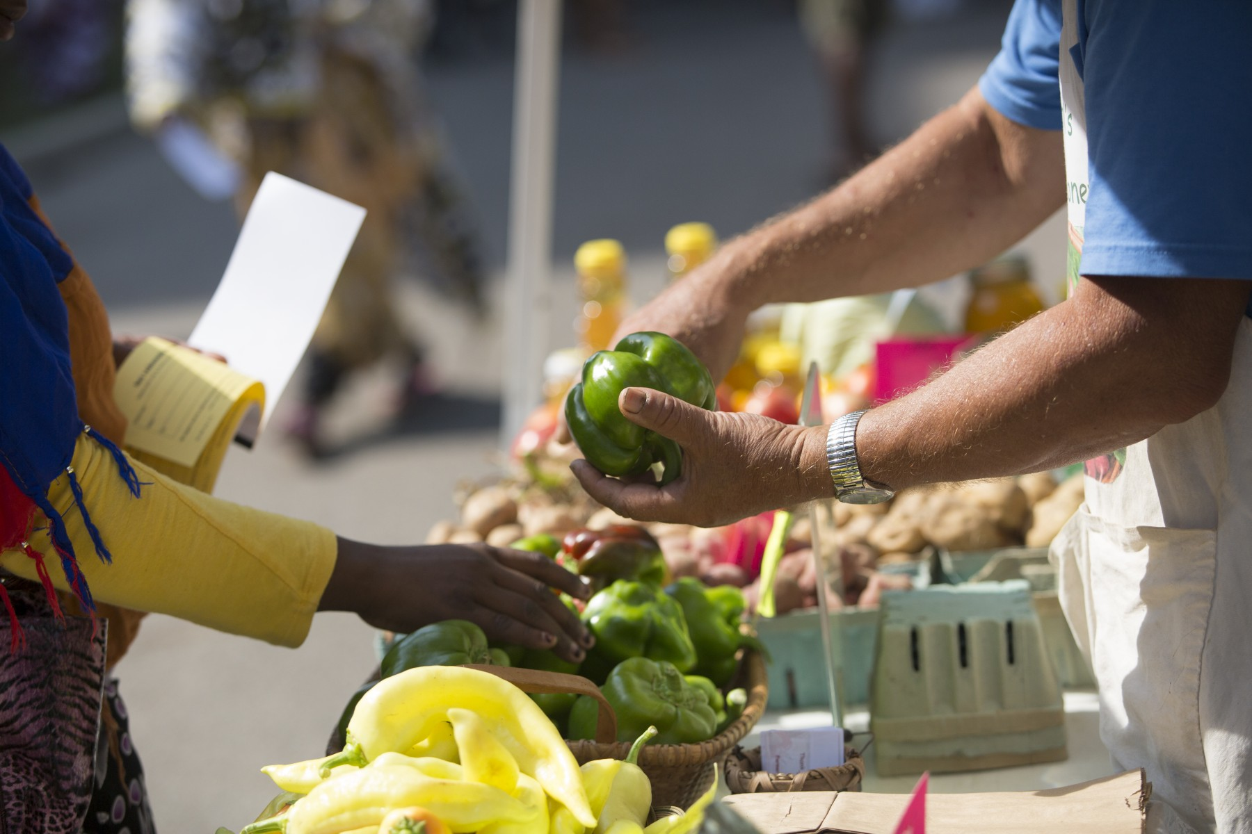 Farmers markets are considered community assets.