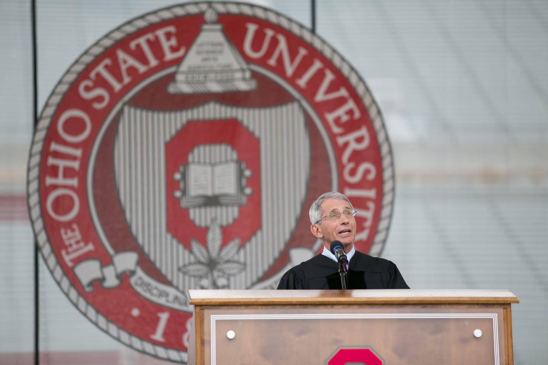 Anthony Fauci, director of the National Institute of Allergy and Infectious Diseases, was the spring commencement speaker in 2016.