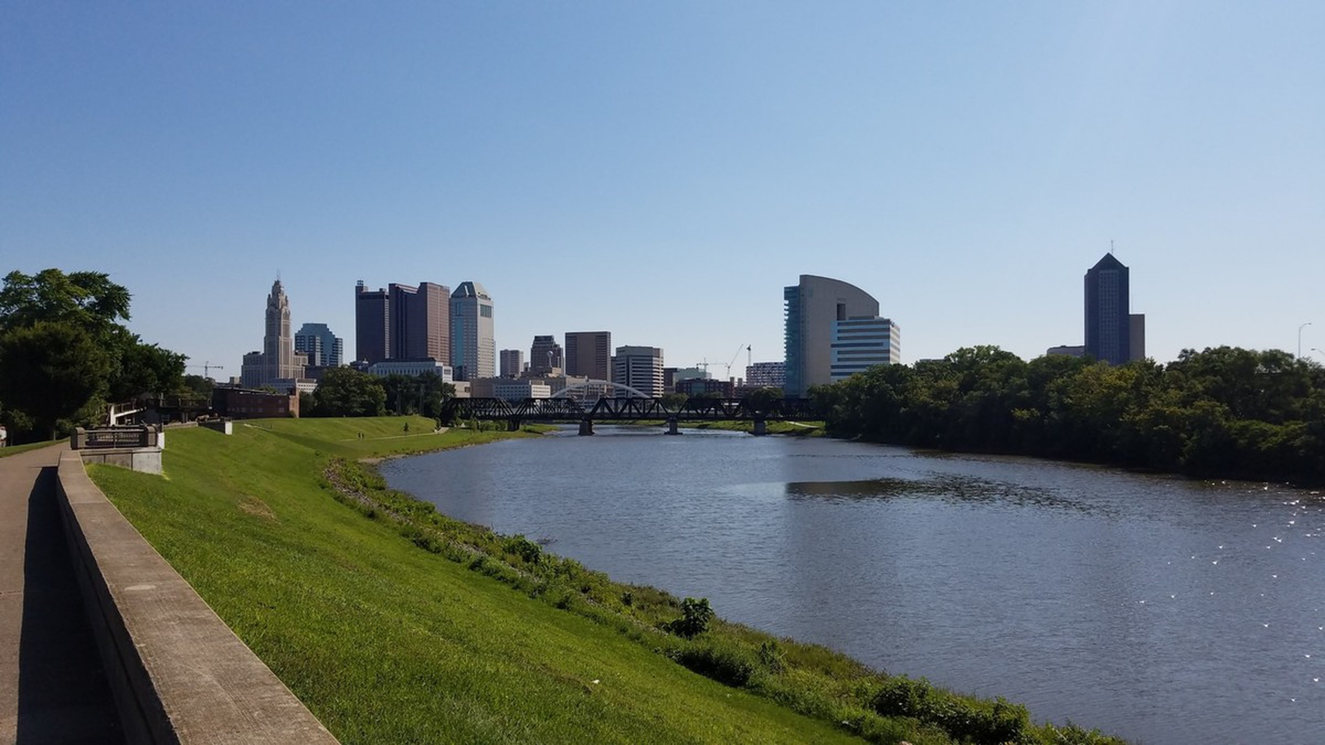 The Scioto River and downtown Columbus.
