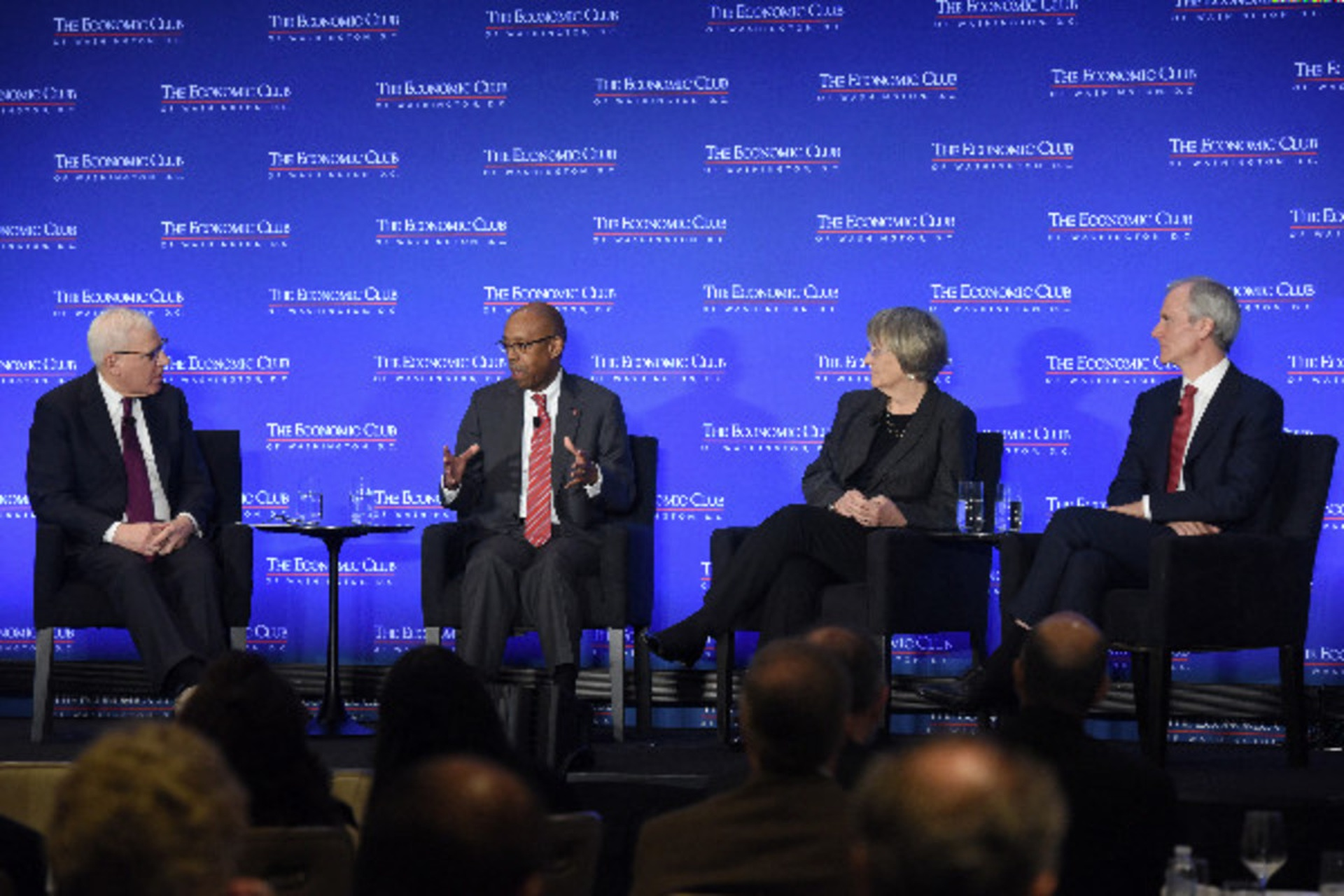 President Drake speaks about higher education. Photo: The Economic Club of Washington, D.C./Joyce N. Boghosian