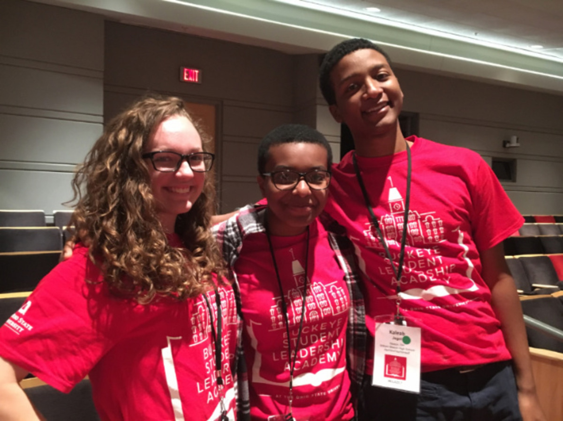 Madison Gillotte, Ose Arheghan and Kaleab Jegol attended the Buckeye Student Leadership Academy
