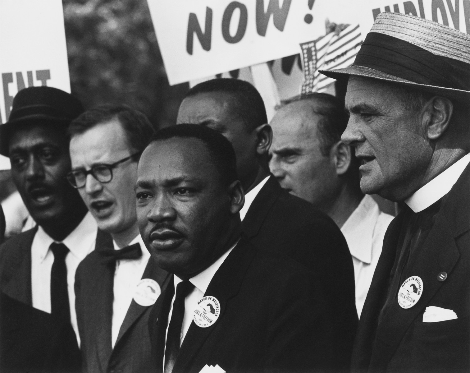 Martin Luther King Jr. during the 1963 March on Washington for Jobs and Freedom