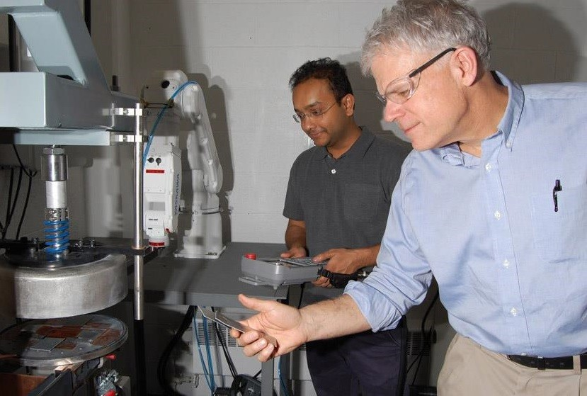 Glenn Daehn (right) is the Mars G. Fontana Professor of Metallurgical Engineering at Ohio State