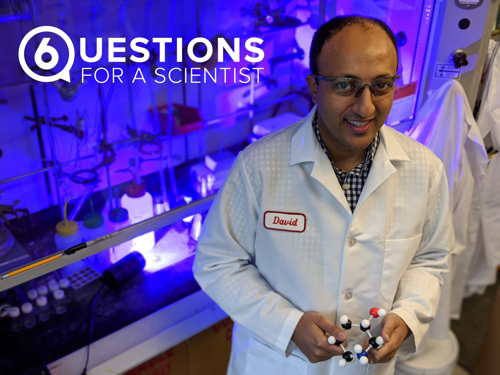 David Nagib, an assistant professor of chemistry at Ohio State, pictured in his lab.