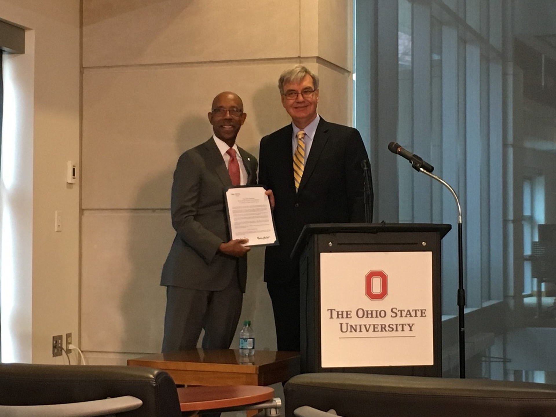 President Drake and Chancellor Carey announce the GIVE back, GO forward program