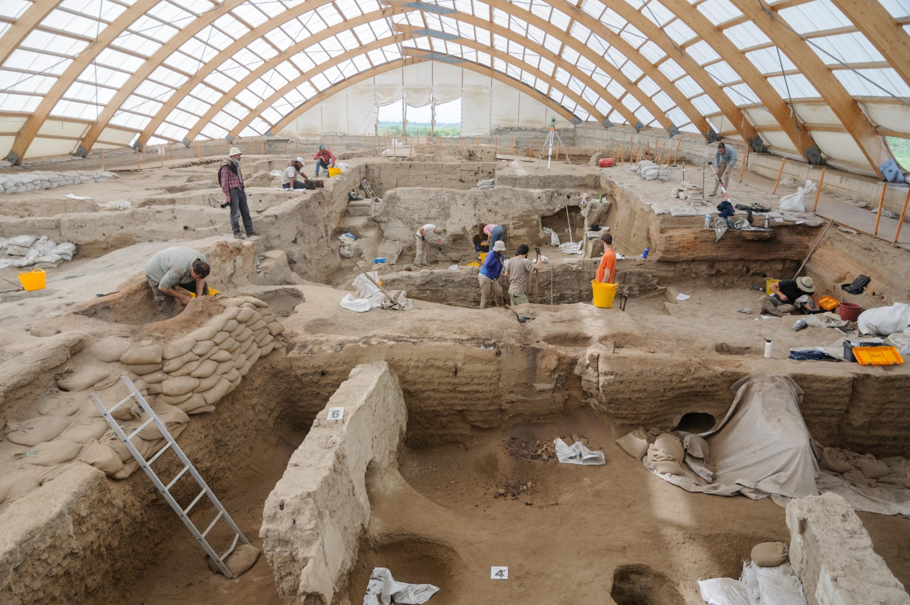 Excavations in a number of Neolithic buildings at Catalhoyuk