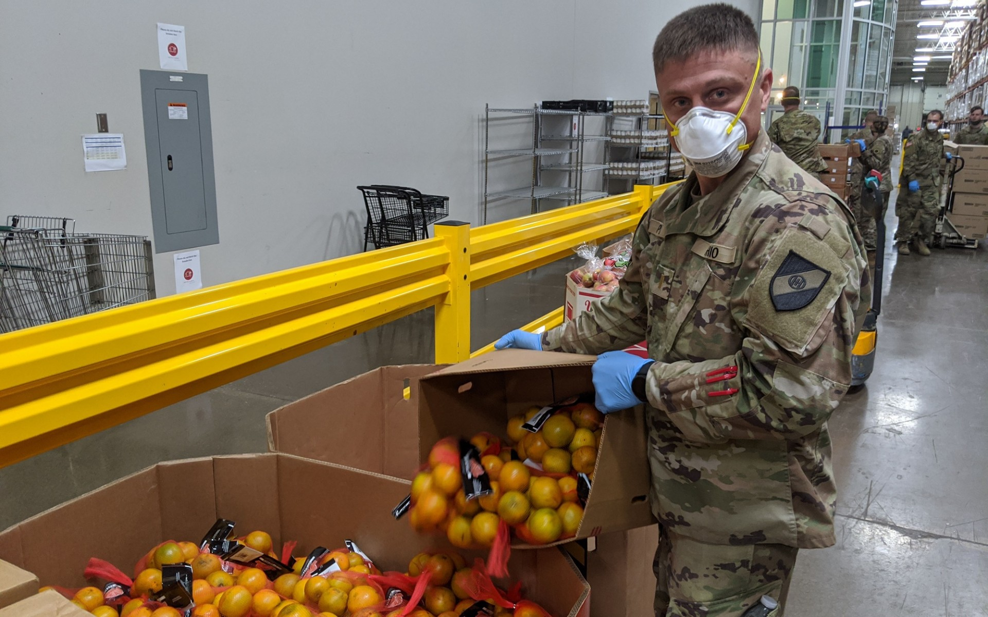 FOD project manager Matt Spisak helps food banks with the Ohio Military Reserve