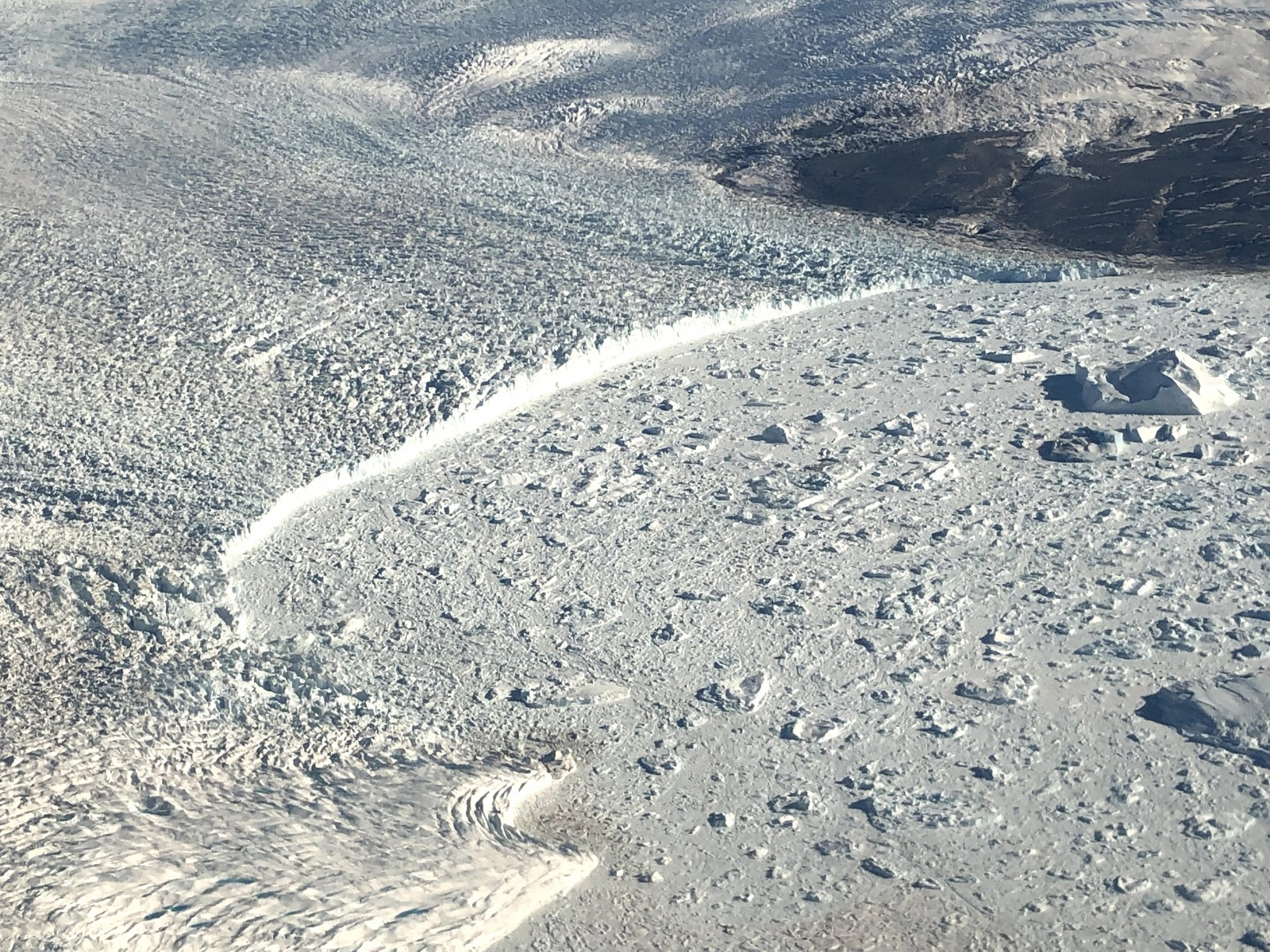 In a presentation at the annual meeting of the American Geophysical Union, scientists released satellite images that, for the first time, show how fast Greenland's glaciers are retreating. The image shows a sharp increase in retreat beginning around 2000.