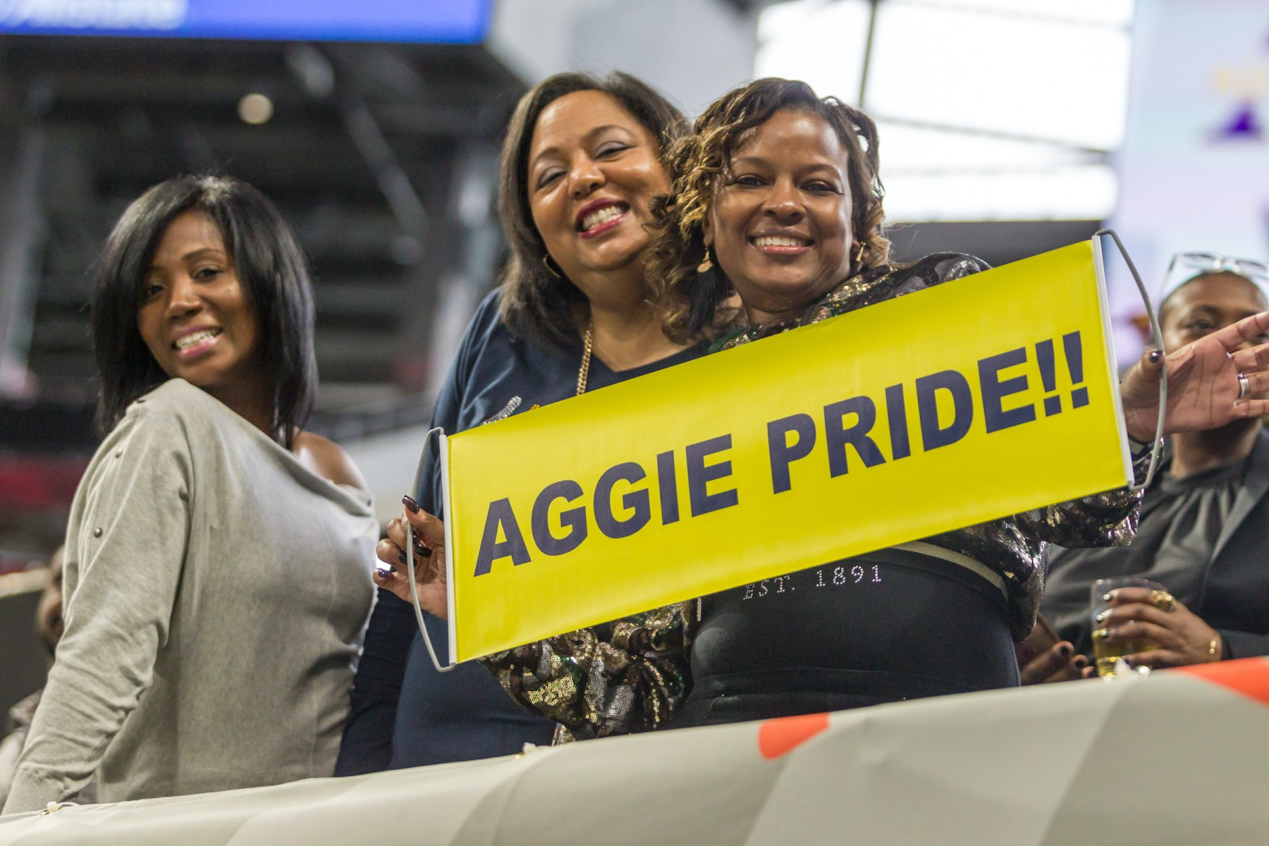 North Carolina A&T fans cheer their team on at the 2019 Celebration Bowl.