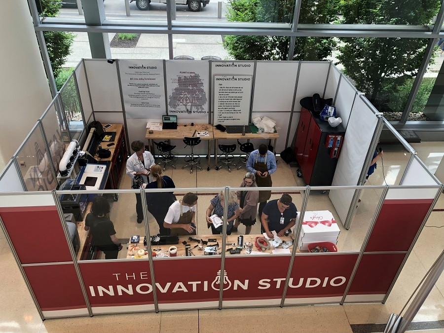 The Innovation Studio is open for business in the lobby of the James
