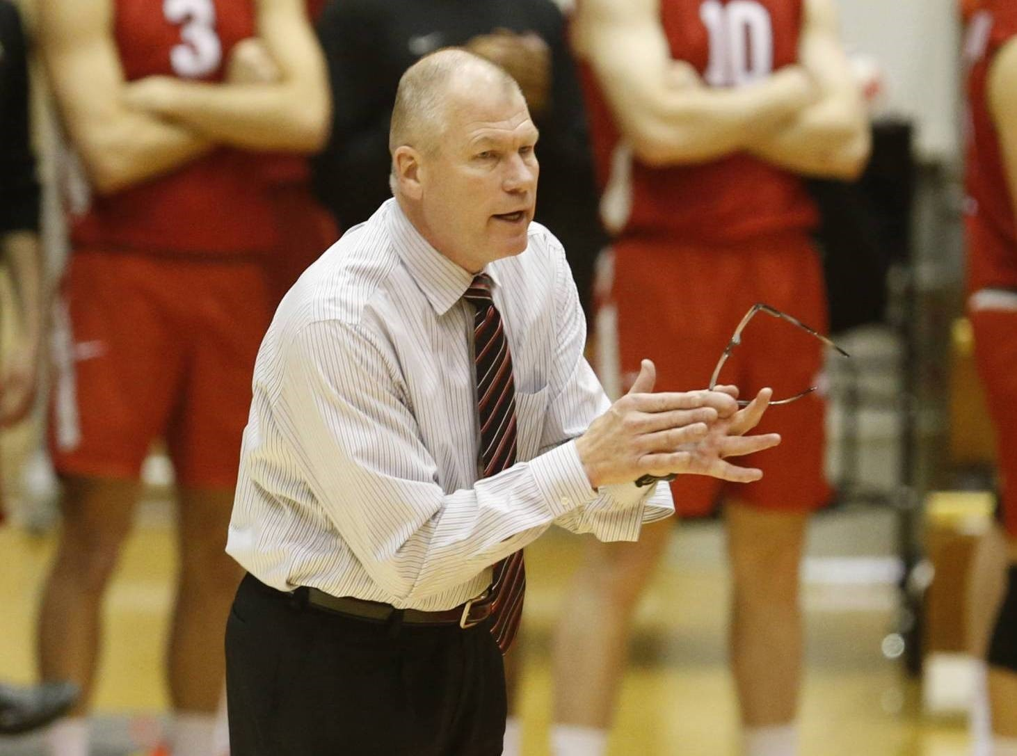 Men's volleyball coach Pete Hanson