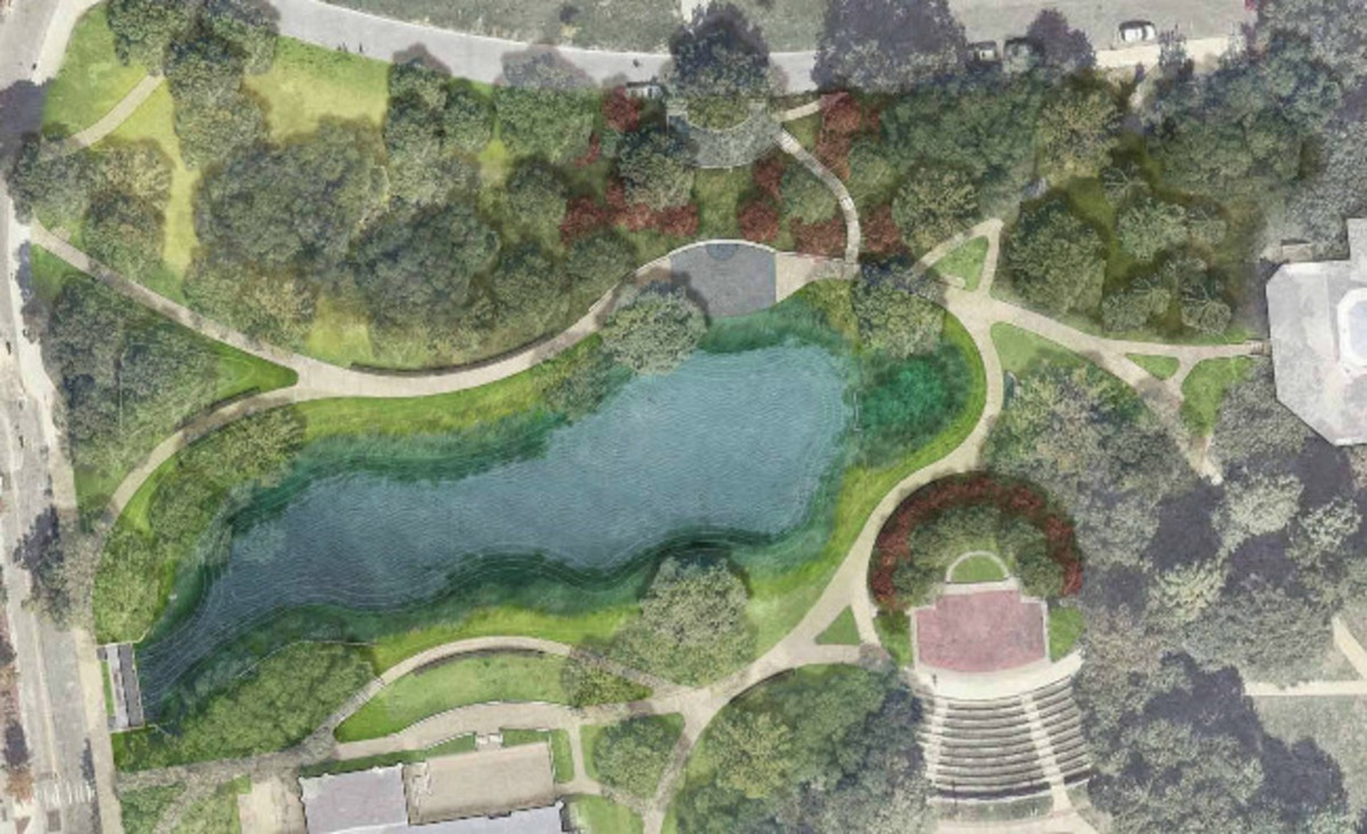 Ohio State trustees approve updated plans for Mirror Lake