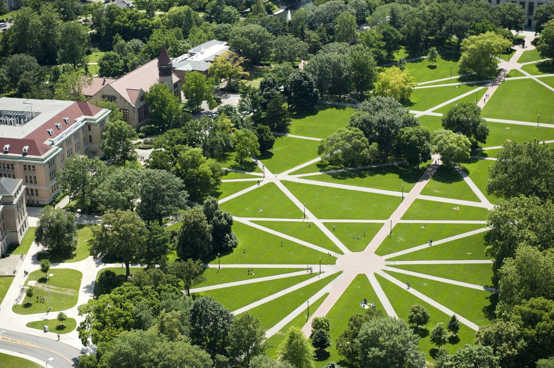 Ohio State Oval-bird's eye view