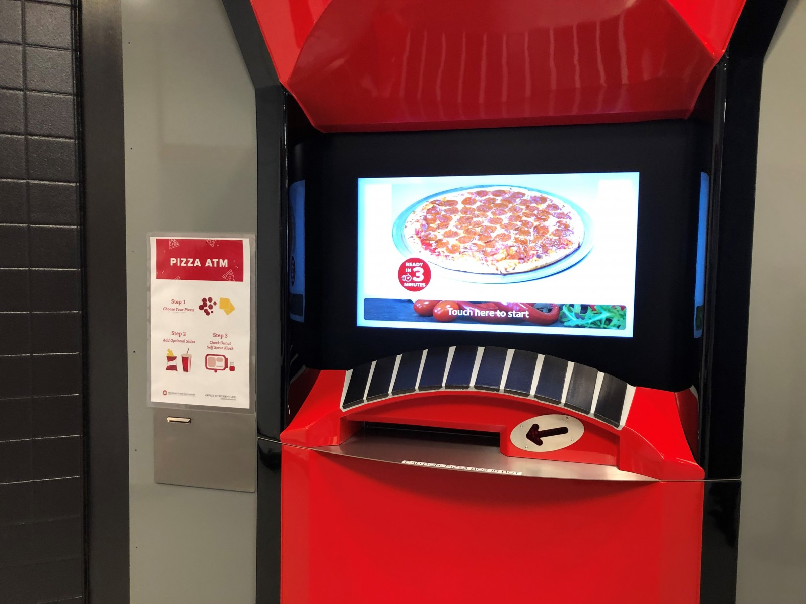 Pizza Atm Open For Business At Ohio State