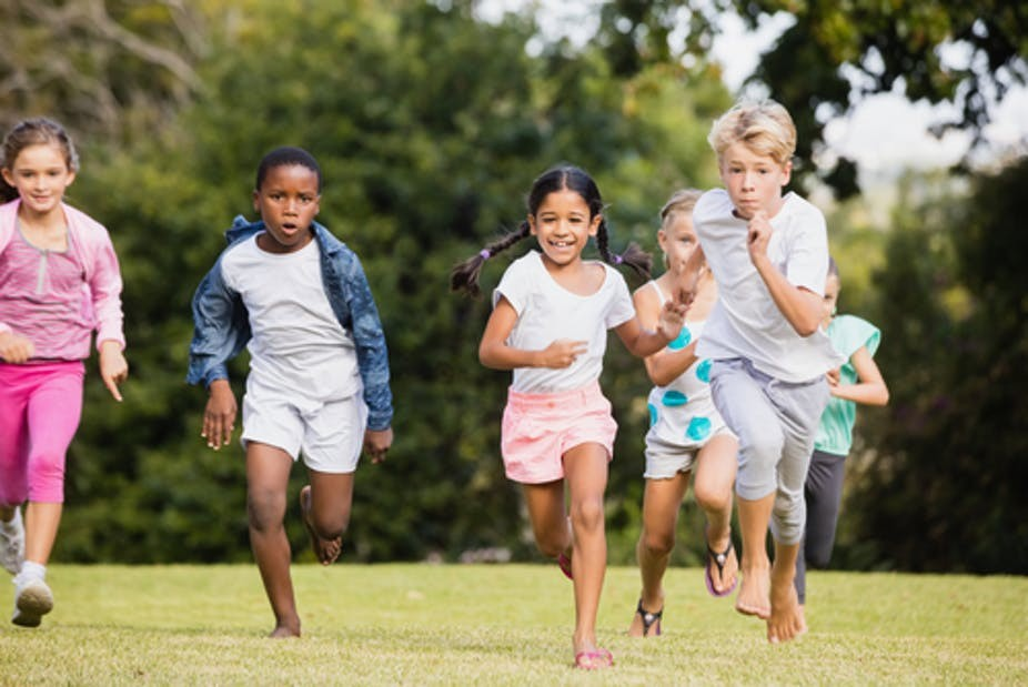 There are many health benefits to kids playing outdoors, not the least of which is preventing myopia. Photo: wavebreakmedia/www.shutterstock.com