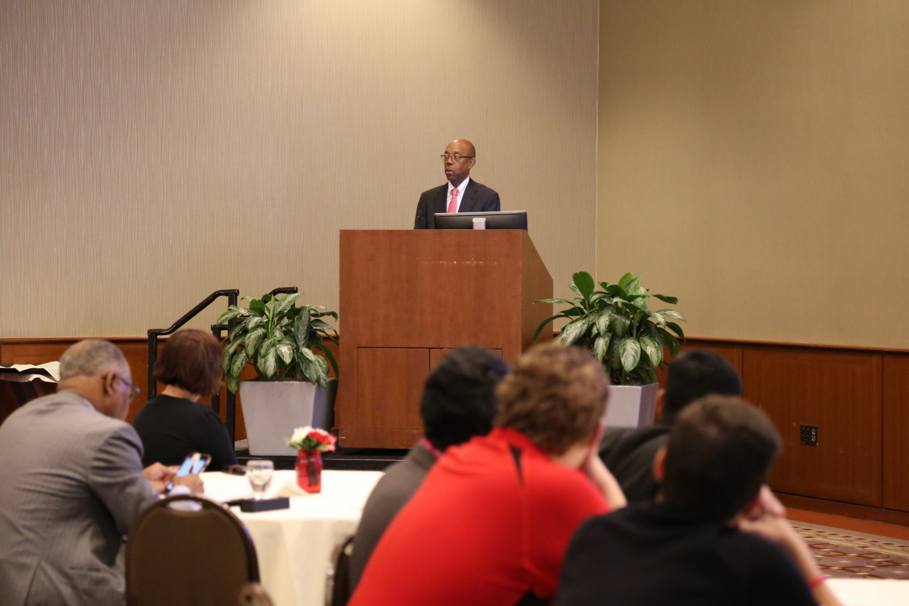 President Drake at the Conference  on Diversity in Aviation.