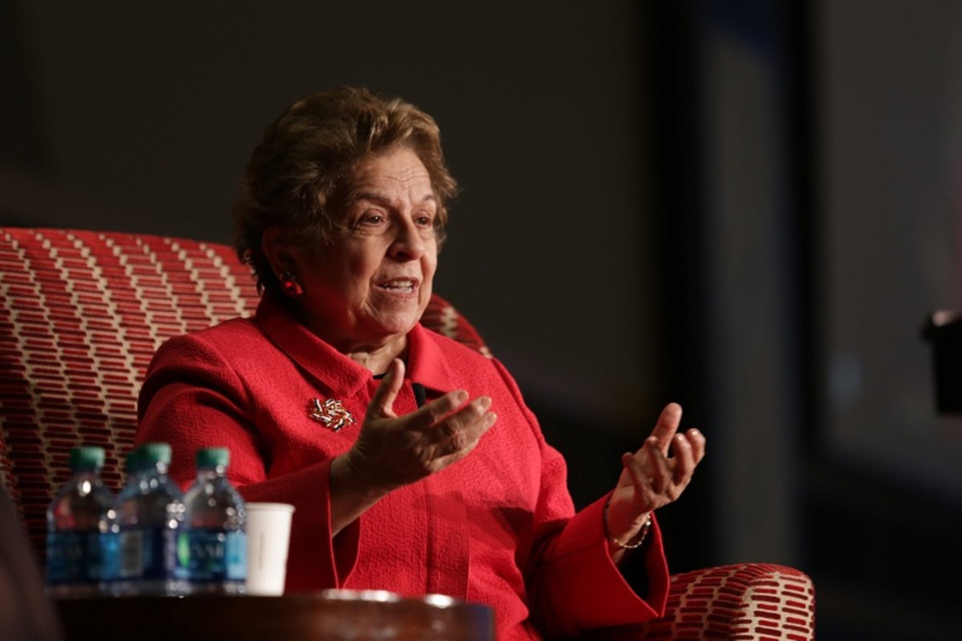 Donna Shalala addresses health and wellness at the Community Engagement Conference. Photo: Kevin Fitzsimons