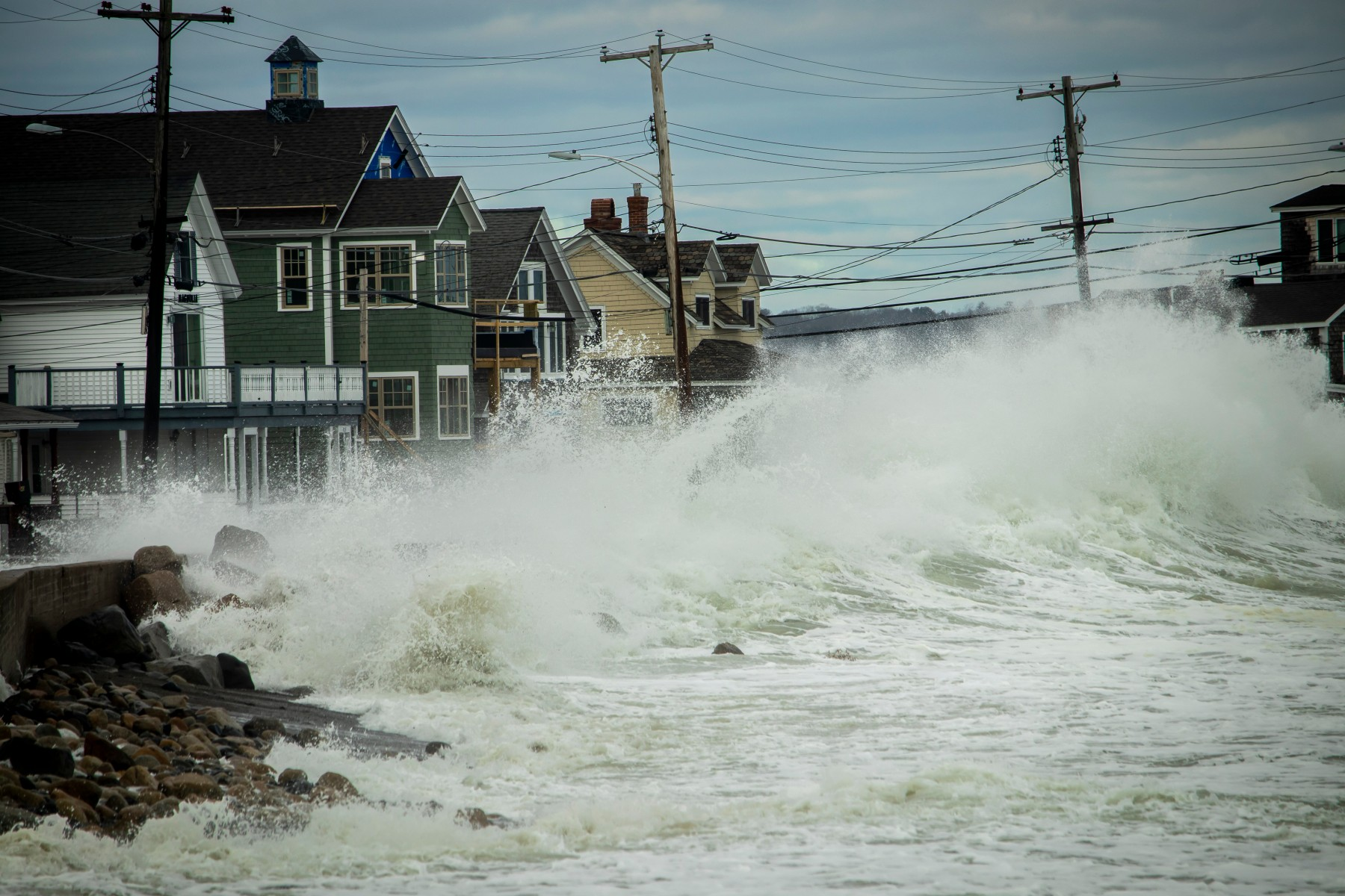 Much of the climate change adaptation research to date has focused on household-level responses to hazards like this 2019 storm surge that led to coastal flooding in southern Maine.