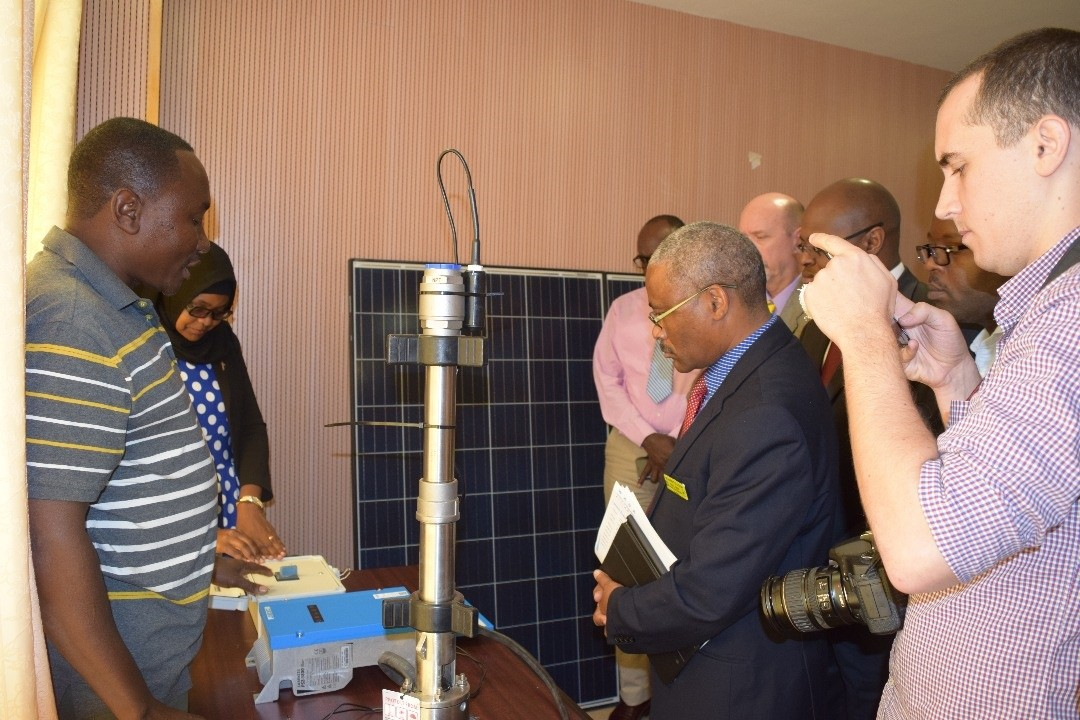 Project Engineer from WorldServe International explains the new technology that will be used for the sustainable systems.