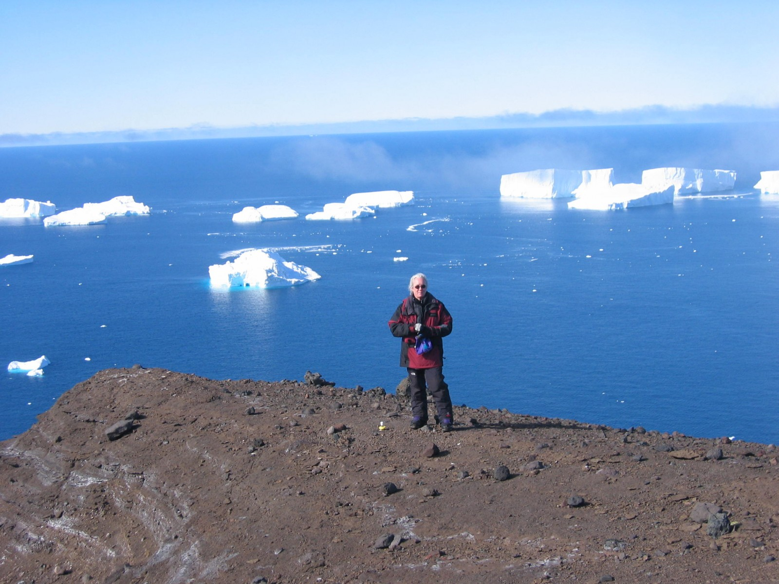 Terry Wilson on Franklin Island, in the Ross Sea in Antarctica
