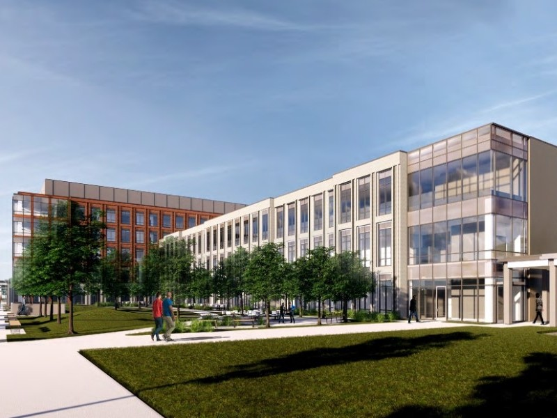 Rendering for Wexner Medical Center Outpatient Care Dublin project