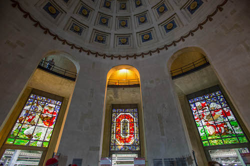 Stained glass windows Ohio Stadium