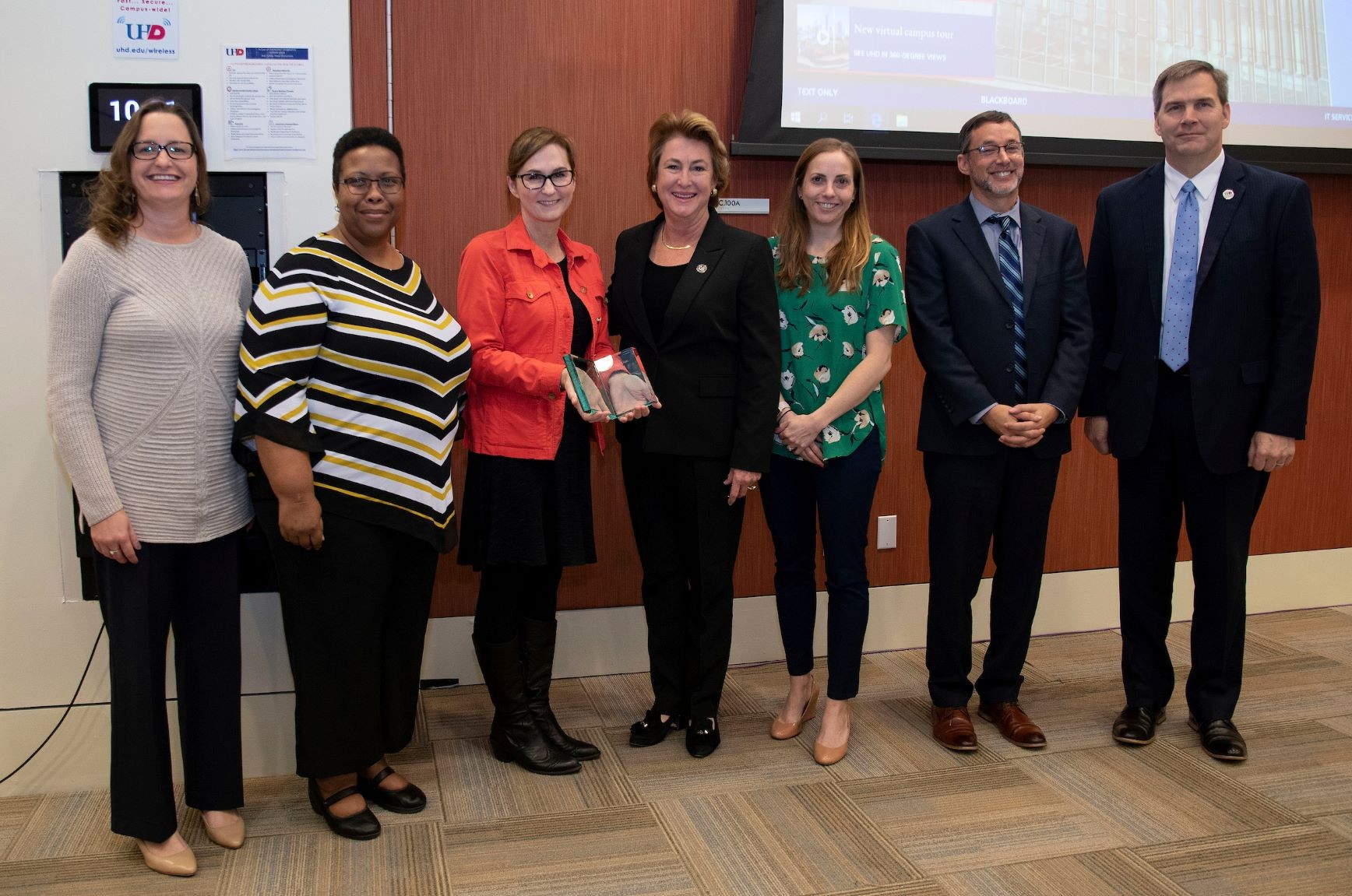 Award Presentation at UHD's College of Public Service