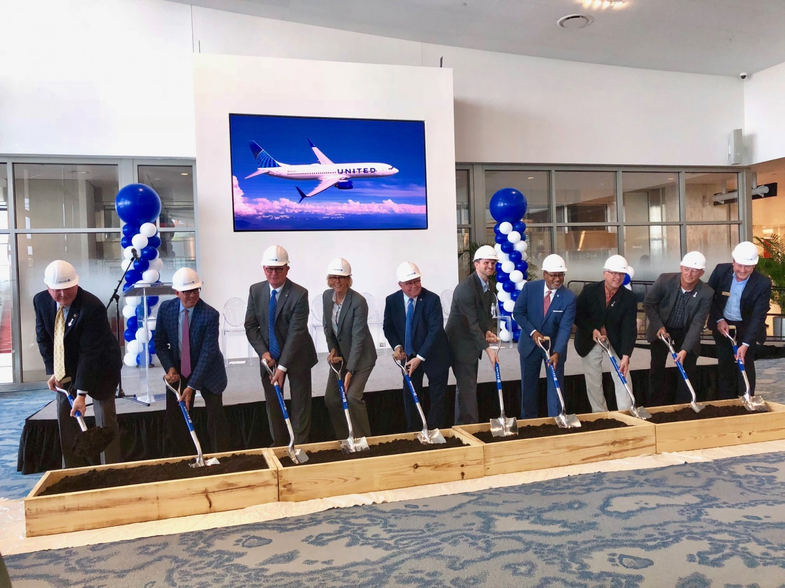 United TPA Hangar groundbreaking ceremony