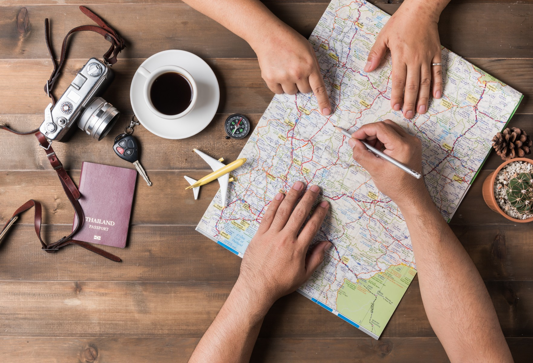 Vacation planning stock photo