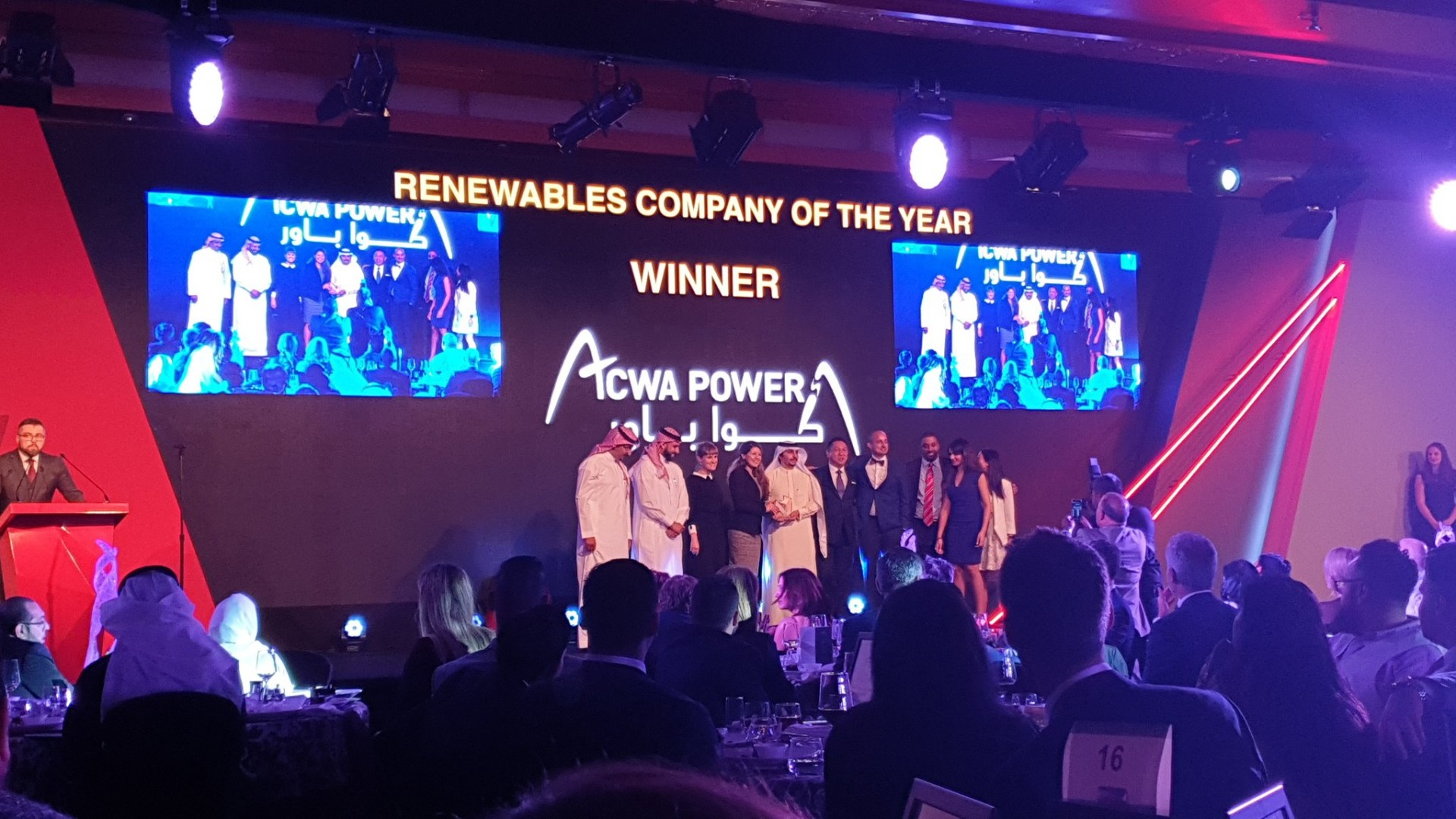 ACWA Power at the MEED Awards Ceremony