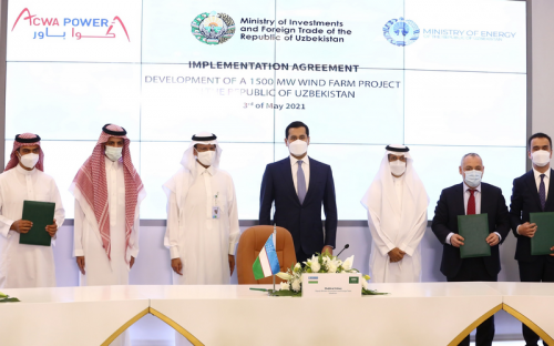 In the presence of HRH Minister of Energy and Uzbekistan's Deputy Prime Minister:  ACWA Power expands its presence in Central Asia with largest single-site...