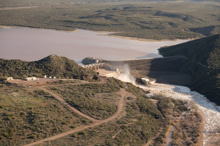 Water release at Horseshoe Dam