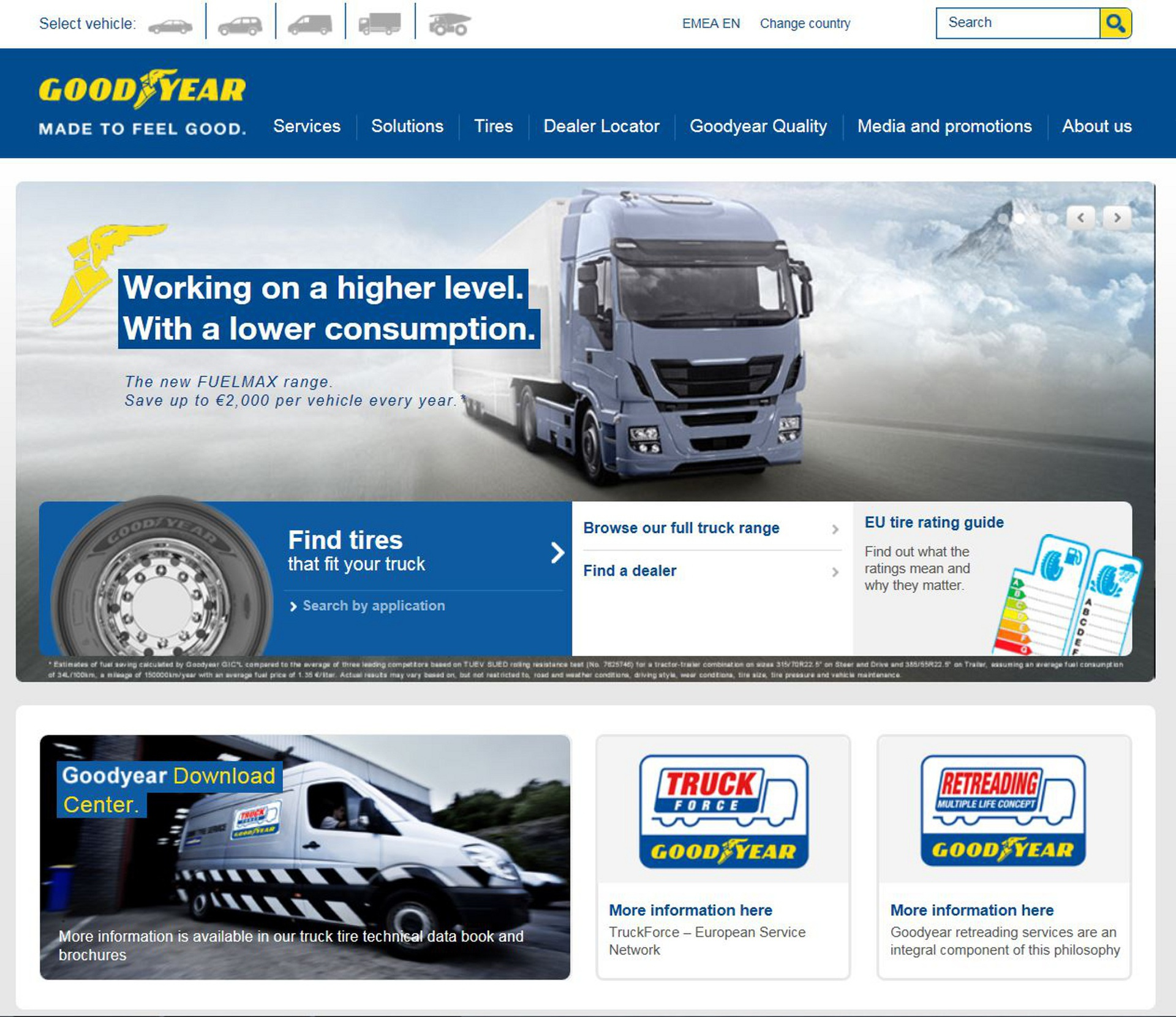 New Goodyear Truck Website