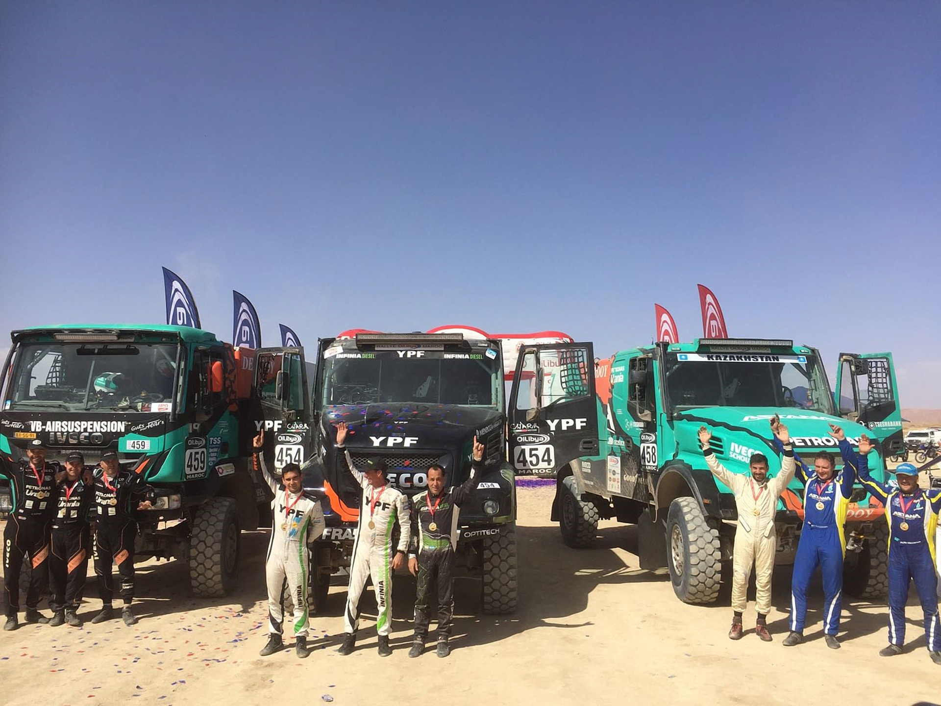 Team De Rooy wins Rallye OiLibya on Goodyear Truck Tires 1