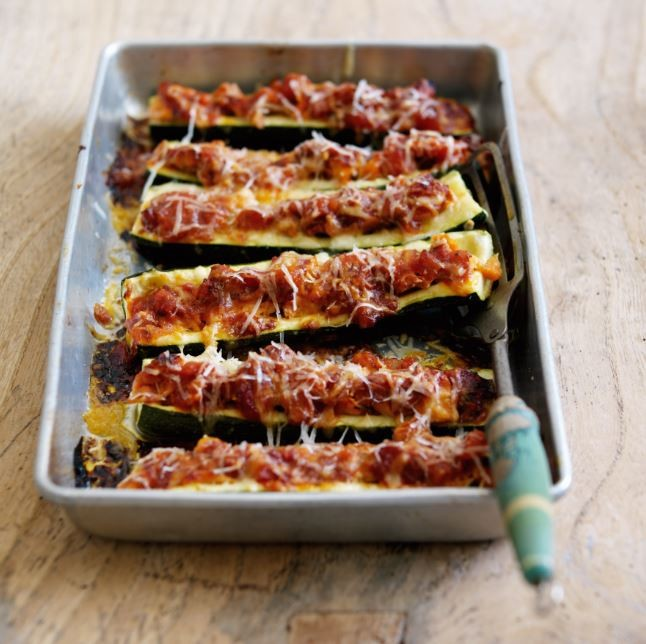Courgettes Stuffed with Alaska Salmon