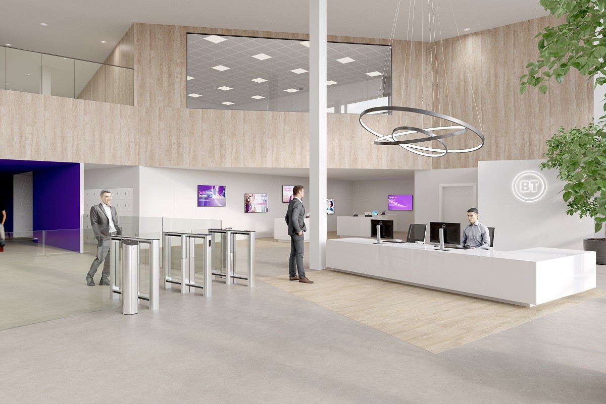 BT reception artist impression